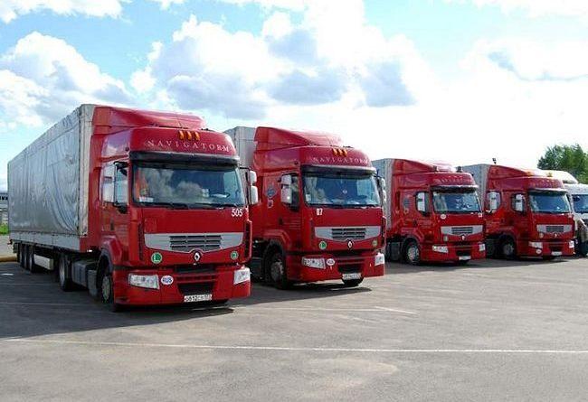 Услуги транспортных компаний по доставке грузов, автомобилей